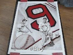 Ted Williams Autograph / Signed 33 x 24 Poster PSA / DNA Boston Red Sox