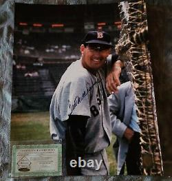 Ted Williams Autographed 16X20 Baseball Photo green diamond authenticated
