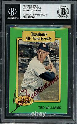 Ted Williams Autographed 1987 Hygrade Greats Card Red Sox Beckett 13019241