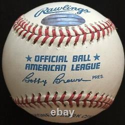 Ted Williams Autographed American League Baseball, PSA Grade Near-Mint 8.5