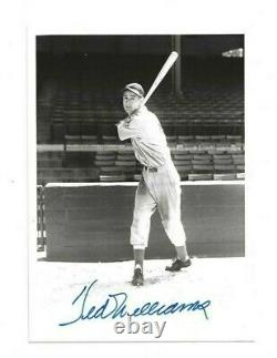 Ted Williams Autographed Baseball 5x7 Brace Photo PSA Letter Boston Red Sox