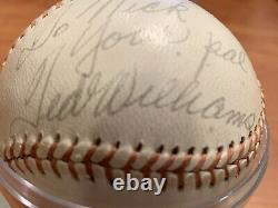 Ted Williams Autographed Baseball Circa 1971- Red Sox