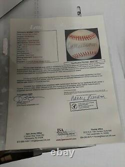 Ted Williams Autographed Baseball with a Letter of Authenticity from JSA