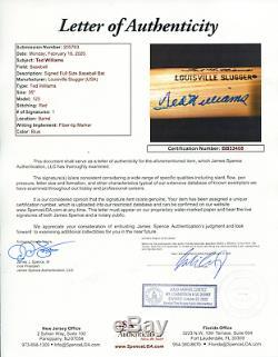 Ted Williams Autographed Louisville Slugger Bat (JSA)