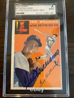 Ted Williams Autographed Signed 1954 Topps Card #1 BO Red Sox SGC 136501003 AUTO