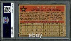 Ted Williams Autographed Signed 1958 Topps Card Auto 6 Card 3 PSA 42805323
