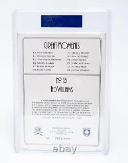 Ted Williams Autographed Signed 1987 Perez-Steele PSA/DNA Encapsulated BOLD
