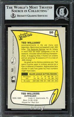 Ted Williams Autographed Signed 1988 Pacific Card #50 Red Sox Beckett 12486614