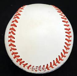 Ted Williams Autographed Signed AL Baseball Boston Red Sox Beckett A53830