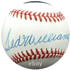 Ted Williams Autographed Signed AL Baseball Boston Red Sox Beckett BAS #A68596