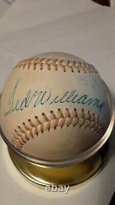 Ted Williams Autographed / Signed Baseball w case