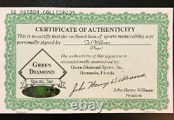 Ted Williams Autographed Signed Sports Illustrated Magazine Green Diamond Holo