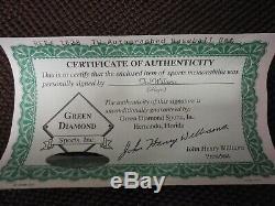 Ted Williams Autographed baseball bat, COA Green Diamond