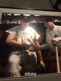 Ted Williams Babe Ruth Autographed Photo Signed COA