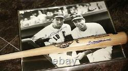 Ted Williams Baseball Bat & 16 X 20 Photo Autographed Signed Green Diamond COA