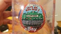 Ted Williams/Bobby Doerr autographed 1/1Charles Fazzino Pop Art Baseball PSA DNA