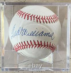 Ted Williams Boston Red Sox Autographed Baseball PSA/DNA Authenticated