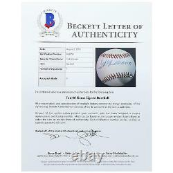 Ted Williams Boston Red Sox Autographed Rawlings Baseball Beckett