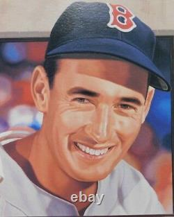 Ted Williams Boston Red Sox Signed 24x30 Lithograph Danny Day JSA Authenticated