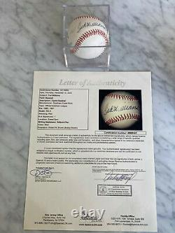 Ted Williams Boston Red Sox Signed Baseball Jsa Full Letter Of Authenticity
