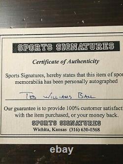 Ted Williams COA Autographed Baseball