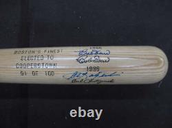 Ted Williams Carl Yastrzemski Bob Doerr Signed Cooperstown Baseball Bat Bt045