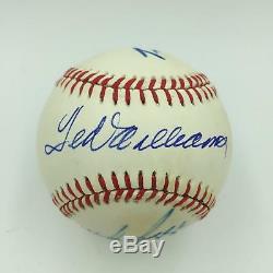 Ted Williams Carl Yastrzemski Wade Boggs Jim Rice Red Sox Signed Baseball JSA