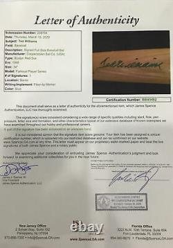 Ted Williams Cooperstown Bat Autographed JSA COA LOA