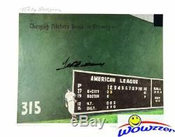 Ted Williams DUAL SIGNED 16x20 Green Monster Litho Green Diamond PSA/DNA LE $550