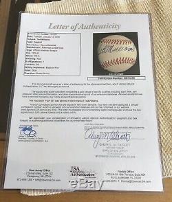 Ted Williams HOF 66 Signed Baseball JSA FULL LETTER