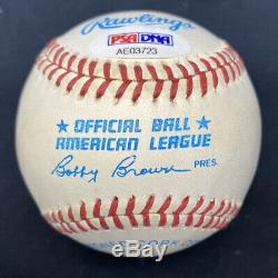 Ted Williams HOF 66 Signed Baseball PSA/DNA LOA