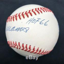Ted Williams HOF 66 Signed Baseball PSA/DNA LOA Graded 8