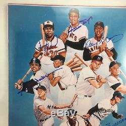 Ted Williams Hank Aaron Willie Mays Signed 500 Home Run Club 10x14 Photo PSA DNA