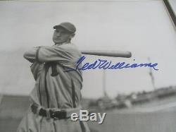 Ted Williams JSA Authenticated Autographed Green Diamond 20x24 Framed Photo