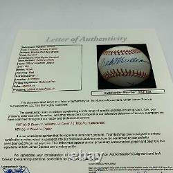 Ted Williams Joe Cronin Joe Wood Carl Yastrzemski Red Sox Signed Baseball JSA