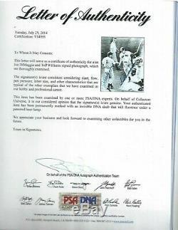 Ted Williams & Joe DiMaggio Autographed Baseball 8x10 Photo PSA All Star Game HR