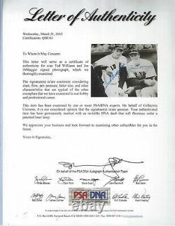Ted Williams & Joe DiMaggio Yankees Autographed Baseball 8x10 Photo PSA COA #2