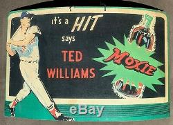 Ted Williams Moxie Cola Advertising Display Sign 1950's Boston Red Sox