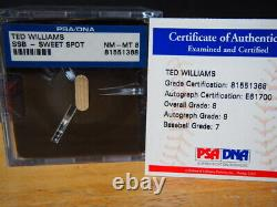 Ted Williams Psa/dna 8 Signed Baseball Redsox Autographed