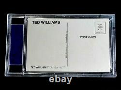 Ted Williams Psa/dna Certified Signed Postcard 1989 Thumper Autograph Auto Mint