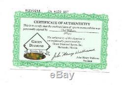 Ted Williams Red Sox Signed LS baseball bat mint autograph HOF Green Diamond COA