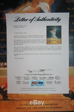 Ted Williams Red Sox signed 16x20 Lithograph Hit List Ballgame PSA