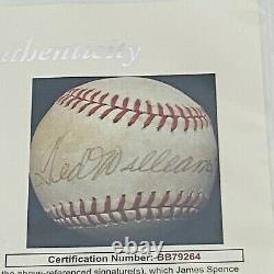 Ted Williams SIGNED Autograph Official AL Baseball with JSA Letter of Authenticity