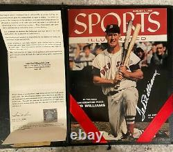Ted Williams SIGNED Picture of Sports Illustrated cover from 1955 with UDA COA