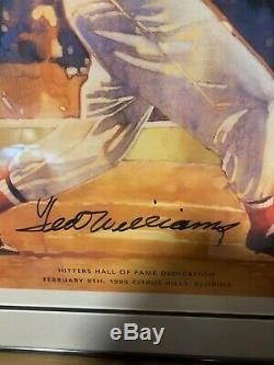 Ted Williams Signed 16 x 20 Litho Limited Edition 26/200