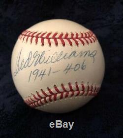 Ted Williams Signed 1941.406 Baseball JSA Authenticated LOA