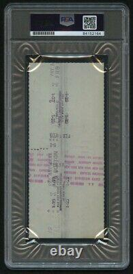 Ted Williams Signed 1975 Personal Bank Check PSA Encapsulated