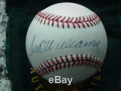 Ted Williams Signed AUTOGRAPH Official AL Brown Baseball Upper Deck UDA