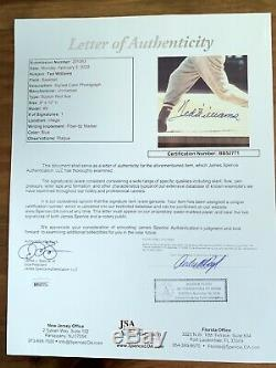 Ted Williams Signed Auto 8x10 Photo Stat Plaque JSA Certified Free Shipping