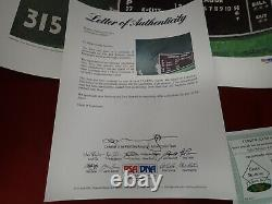 Ted Williams Signed Autograph Fenway's Green Monster 16x20 Lithograph PSA